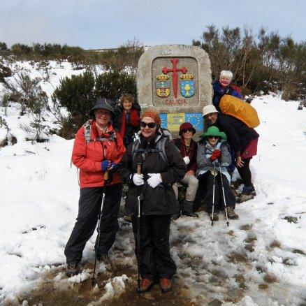 Our wonderful group of Australian pilgrims getting closer to Santiago de Compostela