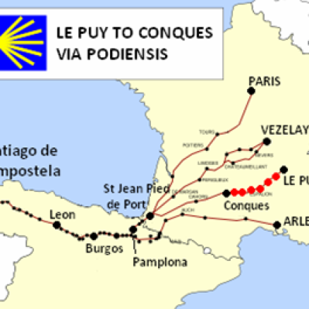 Le Puy to Conques Route in France