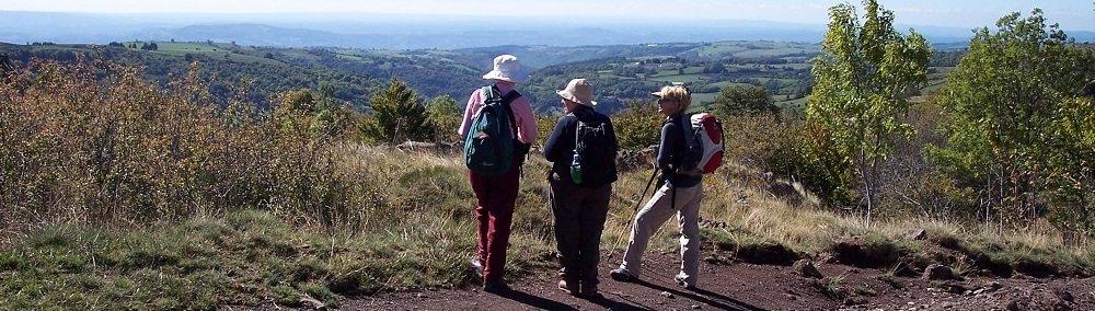 360 vistas near Sauges on the Le Puy to Conques Walk