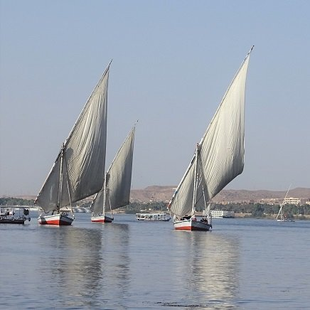 Feluccas at Aswan - Middle East Journey