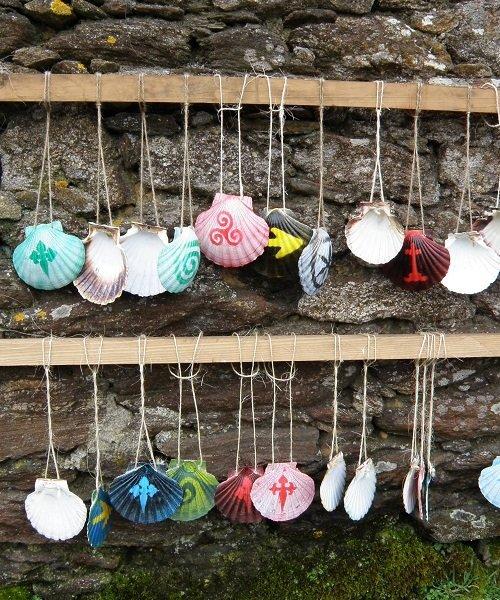 Itinerary Santiago - Scallop Shells awaiting Pilgrim Ownership